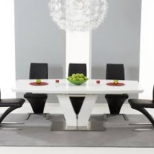 white high gloss table mark harris malibu 180cm extending white high gloss dining table