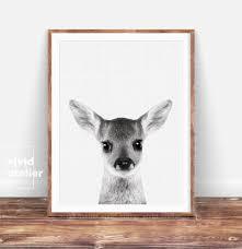 Woodland Animal Nursery Decor by Nursery Decor Fawn Baby Deer Print Woodland Nursery Art