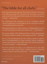 the professional chef the culinary institute of america cia