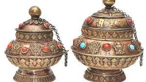 Buddhist Treasure Vase 8 Auspicious Symbols Of Tibetan Buddhism