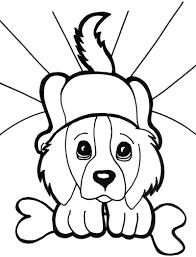 face puppies bone coloring dibujos
