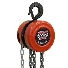 speedway 1 ton manual chain hoist 7518 the home depot