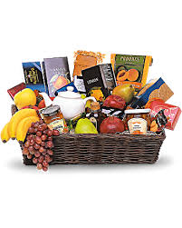 gourmet fruit baskets grande gourmet fruit basket teleflora