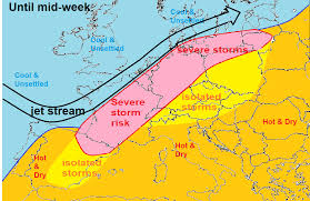 Map Of Southern Spain Southerly Tracking Jet Stream Keeps Heat Away Blog By Nick Finnis