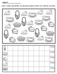 math thanksgiving graphing printable festival collections