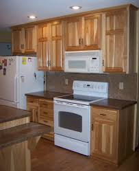 what granite choice with natural hickory cabinets kitchens