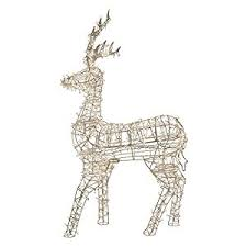amazon com northlight led lighted standing reindeer outdoor
