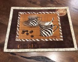 Taupe Zebra Rug Zebra Print Placemat Etsy