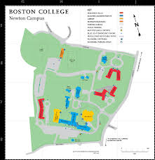 Boston University Campus Map by Boston College Newton Campus Map 885 Centre Street 02459 U2022 Mappery