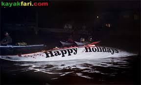 kayaking a parade of lights seminole winterfest boat parade