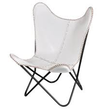 Black Butterfly Chair White Leather Butterfly Chair Free Shipping Today Overstock