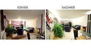 Beleuchtung Kleines Wohnzimmer Indirekte Beleuchtung Mit Led Vorher U003e Nachher