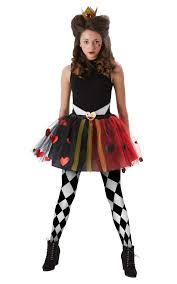 tween queen of hearts girls costume wonderland kids accessory set