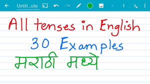 table of english tenses pdf all 12 tenses in english with exles in marathi मर ठ youtube