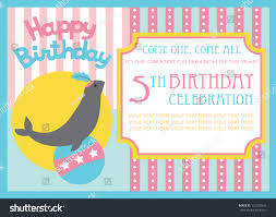 Birthday Invitation Card Design Kid Birthday Invitation Card Design Vector Stock Vector 121920643
