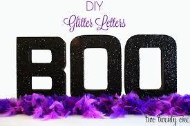 diy glitter letters mod podge