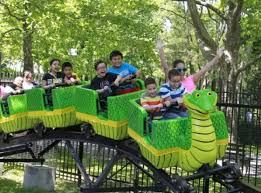 backyard theme park you must be this short to ride mini amusement park for kids comes