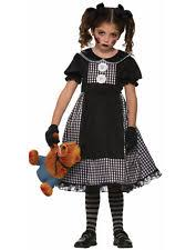 Raggedy Ann Costume Dark Rag Doll Dress Gothic Creepy Haunted Raggedy Ann Childs