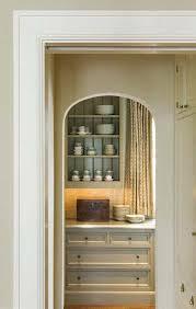 arch through to u0027mini pantry u0027 chunky white shelves white