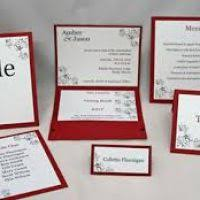 Red And Black Wedding Invitations Red Wedding Invitation Kits Justsingit Com