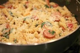 Pasta Sausage Sausage U0026 Spinach Pasta Skillet Normal Cooking