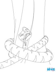 kaa the pithon coloring pages hellokids com