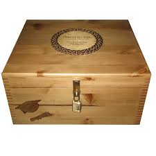 graduation memory box rustic large graduation keepsake box with engraved celtic plaque