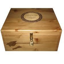 Graduation Boxes Rustic Large Graduation Keepsake Box With Engraved Celtic Plaque