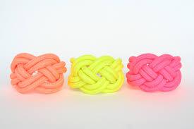 neon color sailor knot nautical knot bracelet statement