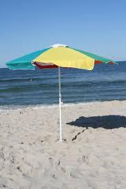 Lightweight Beach Parasol Buoy Beach 7ft Surfside Round Market Umbrella With Stowage