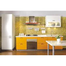 interior contempo small galley kitchen design with panelled