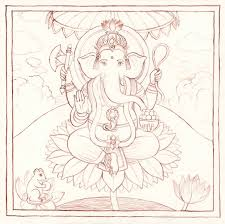 indian miniature paintings outline drawing