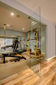 basement gym ideas home gym contemporary with recessed lighting