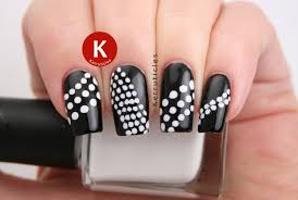 black and white dots 40 great nail art ideas kerruticles