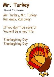 mr turkey song to the tune of frere jacques november