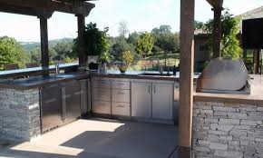 Outside Kitchen Cabinets Metal Outdoor Kitchen Cabinets Built In Stainless Steel Bbq Grill