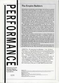 this issue of performance magazine has been reproduced as part of