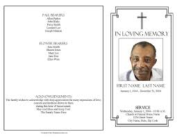 funeral program template 4 page graduated classic cross