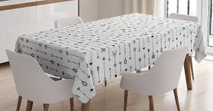amazon com arrow decor tablecloth by ambesonne old traditional