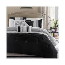 Madison Park Duvet Sets Madison Park Infinity Black Grey 7 Piece Comforter Set Grey Queen
