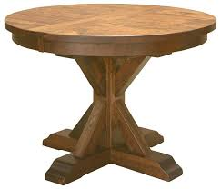 solid wood pedestal kitchen table single or double pedestal dining tables built from solid hardwoods