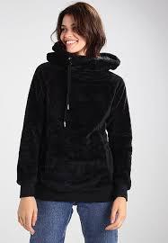 urban classics teddy hoodie black zalando co uk