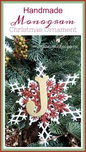 handmade monogram ornament what meegan makes