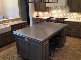 zinc countertop bastille metal works kitchen ideas pinterest