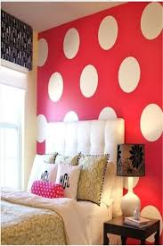 decorations pretty bedroom design with colorful polka