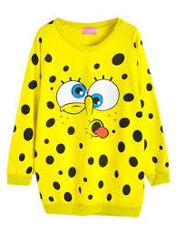 spongebob squarepants long line sweatershirt choies com