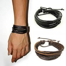 leather women bracelet images Jirong 2 pack leather black brown bracelets adjustable jpg