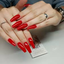 red coffin my love nails pinterest coffin nails nail