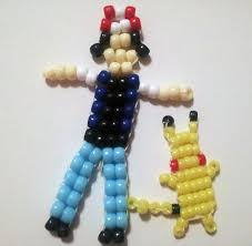 ash ketchum and pikachu pokemon bead buddies bead buddies
