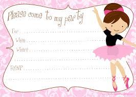 Create An Invitation Card Remarkable Ballerina Invitation Cards 91 In Make An Invitation